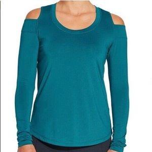 Calia x Carrie Underwood cold shoulder shirt LG